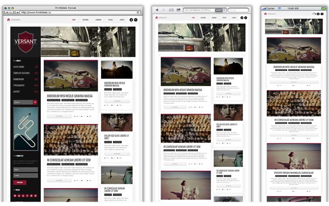 Страница Joomla-шаблона Versant (URL=http://demo.joomlaxtc.com/versant/) занимает всю ширину экрана.